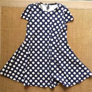 Branded Polka Dot Dress