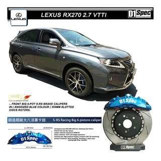 D1 SPEC BIG BRAKE KIT ( BIG 6 POT S-RS, 355 ) ON LEXUS RX270 2.7 VTTI