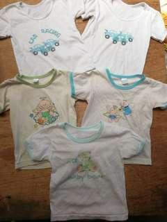 Tshirt for 12-24mos take all for ₱60 with some stains