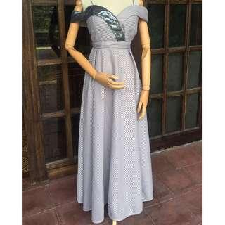 Silver gray gown