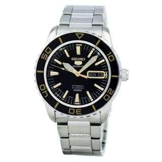 🚚 Seiko Automatic Sports Japan Made SNZH57 SNZH57J1 SNZH57J Men's Watch