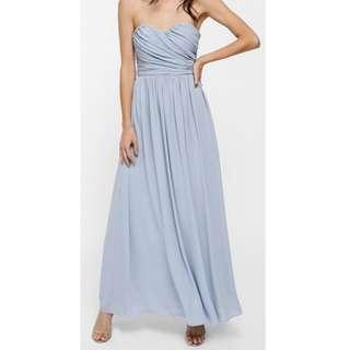 BNIB Love Bonito Bavryn Dusty Blue Bustier Maxi Dress (Size M)