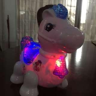 Horse PaoPao moving toy with sound and light