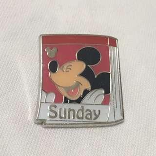迪士尼襟章 米奇 星期日 (Disney Mickey Sunday - Pin trading logo)