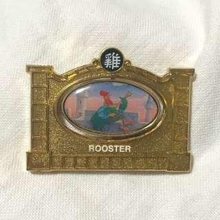 上海迪士尼襟章 生肖系列 雞 (Shanghai Disneyland Pin trading logo - Garden of the Twelve Friends - Rooster)