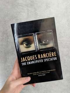 🚚 'The Emancipated Spectator', Jacques Ranciere