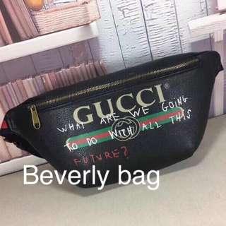 READY tas Pria Gucci Waist Bag LEATHER MJRROR - hitam eec2cdd88a