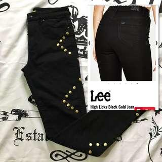 Lee High Licks Jeans w/ Gold Stud