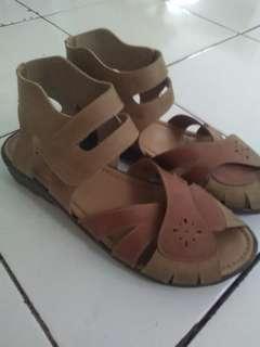 #barter Sepatu sandal kulit