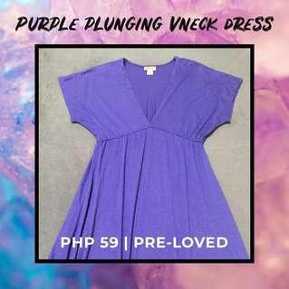 Mossimo Purple Plunging Vneck Dress