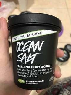 LUSH OCEAN SALT SELF-PRESERVING ORIGINAL FACE AND BODY SCRUB