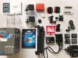 GoPro Hero 4 Silver with LEXAR great condition!