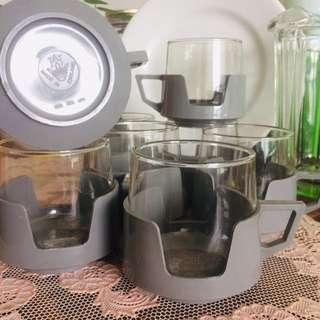 Retro 1970s JAJ Pyrex Glass Cups