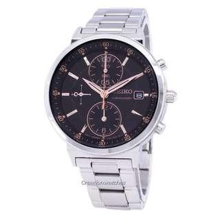 🚚 Seiko Chronograph Quartz SNDV23 SNDV23P1 SNDV23P Women's Watch