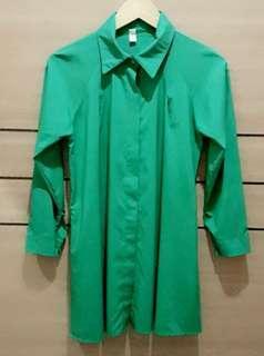 [NEW] Green Shirt Dress