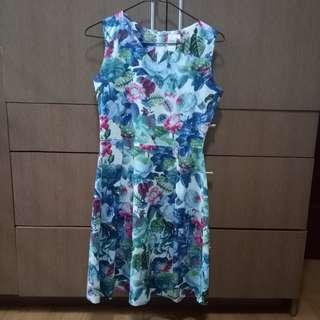 Shapes Floral Dress