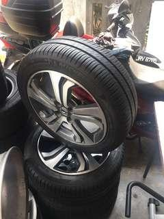 Sportrim honda city with tire