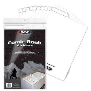 Comic Box Divider Dividers for Books