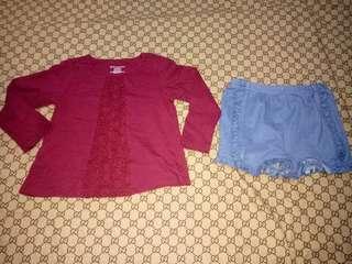Take First ImpreSsion full sleeve and Garanimals shorts(Size 12-18 M)