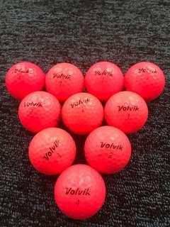 Volvik pink Golf balls