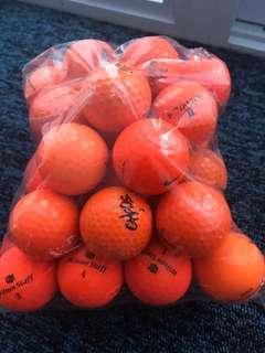 Mix Orange Golf balls