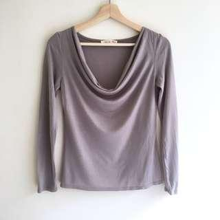 Alannah Hill Modal/Cashmere Cowl Neck Knit Top
