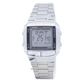 🚚 Casio Data Bank Illuminator Dual Time Alarm Digital DB-360-1A DB360-1A Men's Watch