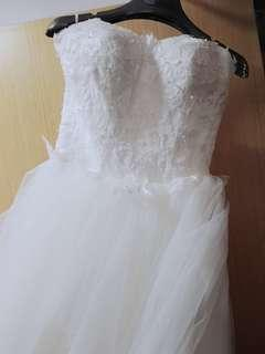 Wedding Gown Clearance XXS White Princess Maxi Gown Suitable for Simple ROM