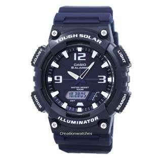 🚚 Casio Illuminator Tough Solar Alarm Analog Digital AQ-S810W-2A2V AQS810W-2A2V Men's Watch