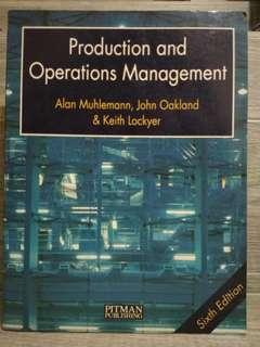 Book for Sale: Production and operations management
