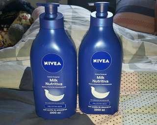2pcs Large Nivea Lotion 1000ml