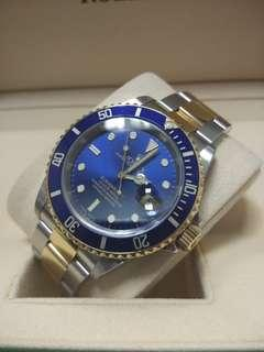Rolex Submariner 16613 Blue Dial (Steel and Gold) 40mm Automatic