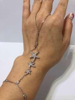 純銀微鑲鑽手鍊