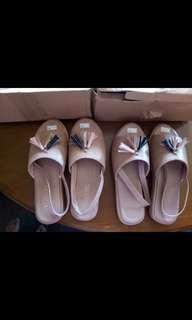 Flip Flop Sandal Platform Cream