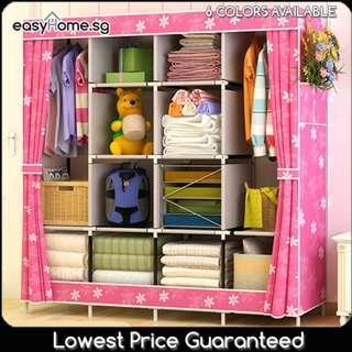 🚚 Wardrobe GY49 - Closet Hanger Clothes Rack Storage Shelves