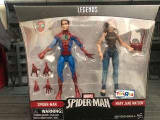 Marvel Legends Mary Jane Watson and Spiderman