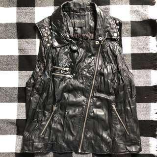 Forever21 Leather Studded Vest