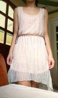 Long back lace dress