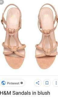 authentic h&m blush pink shoes