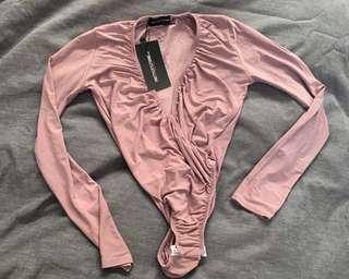 Pretty Little Thing Lilac Deep Bodysuit (BNWT)