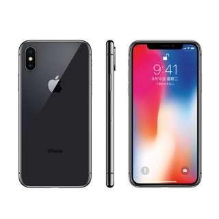 【福利機】【拆封新品】蘋果 APPLE iPhone X 5.8吋 256GB 太空灰 4k拍攝 完整盒裝 保內