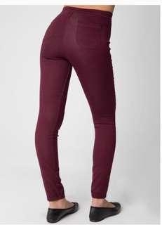 ♦️American apparel almost new burgundy easy skinny high waisted jeans