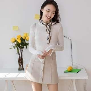 假排釦顯白顯瘦裙