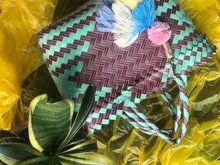 🚚 Handwoven stylish plastic bag super small size