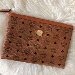 MCM Classic Clutch in Brown (Unisex)