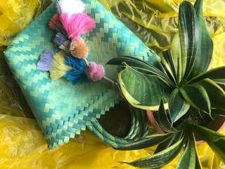 🚚 Handwoven stylish handmade plastic bag super small