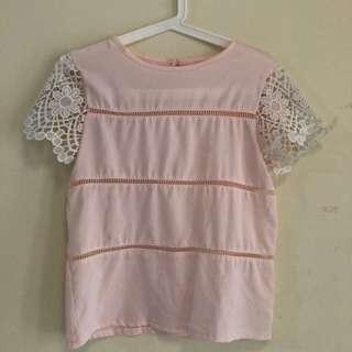 blouse pink muda