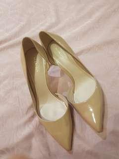 Mango nude heels (loubotinn look a like)