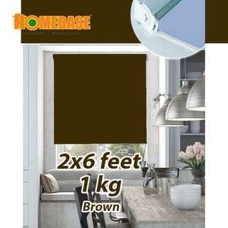 HOMEbase Blackout Roller Blind (70cm x180cm) *Brown