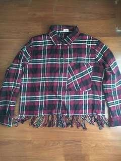 Plaid Fringe Shirt